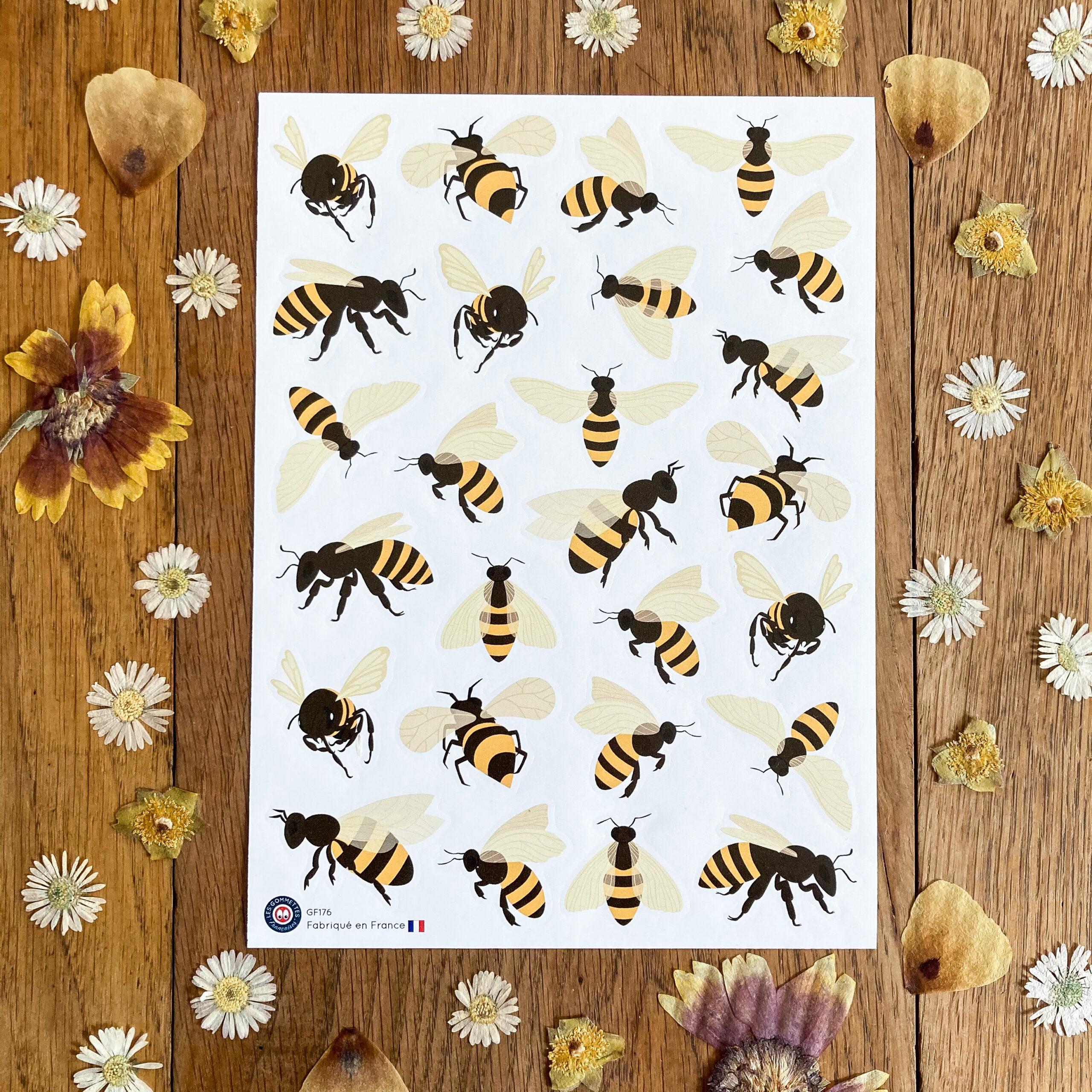 Les gommette abeilles | Les gommettes Françaises | Fabriquées en France