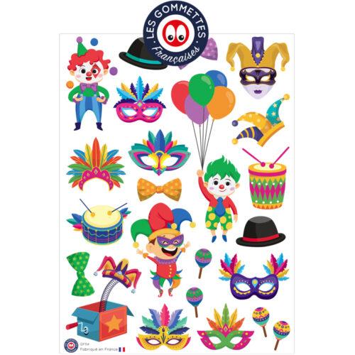 Gommettes Carnaval | Les gommettes françaises | Gommettes fabriquées en France