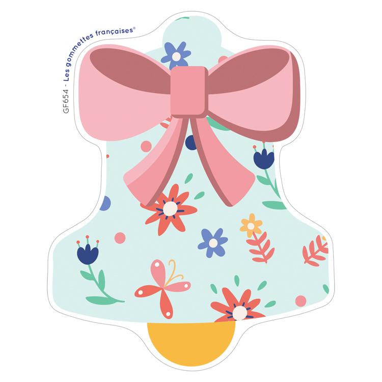 Stickers cloche de Pâques | Les gommettes françaises | Made in France