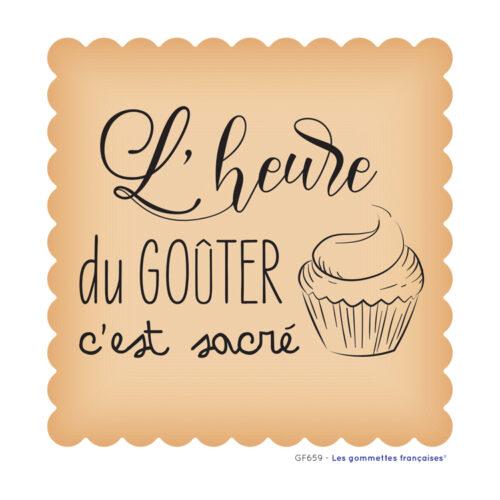 Stickers l'heure du gouter | Les gommettes françaises | Made in France