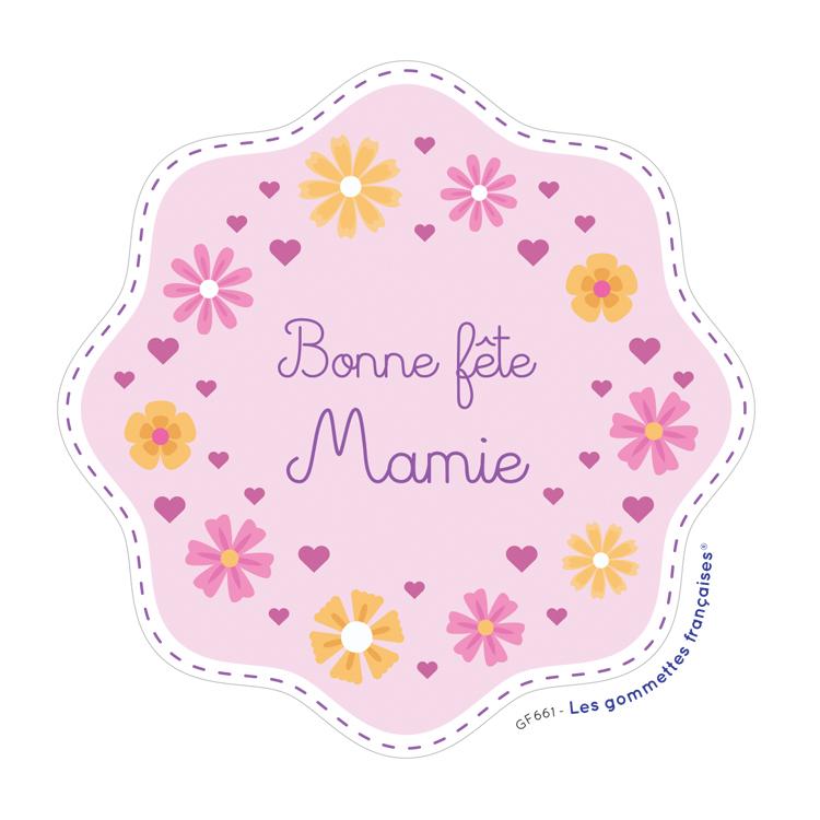 Stickers bonne fête mamie | Les gommettes françaises | Made in France