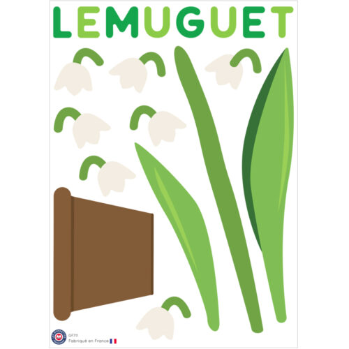 Gommettes muguet à assembler | Les gommettes françaises | Fabriquées en France