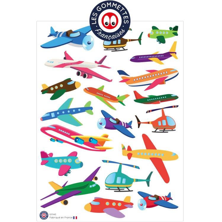 Gommettes Avions   Les gommettes Françaises   Gommettes et stickers fabriqués en France