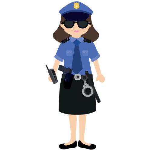 Gommettes policière à habiller | Les gommettes françaises | Fabriquées en France