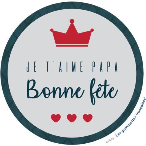 Stickers bonne fête papa | Les gommettes françaises | Made in France