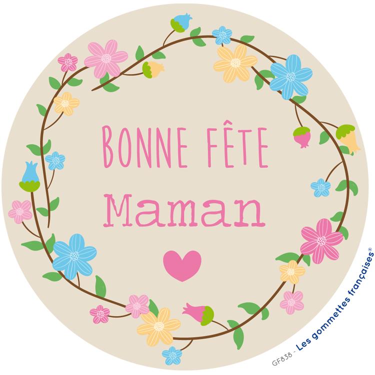 Stickers Bonne fête Maman | Les gommettes françaises | Made in France