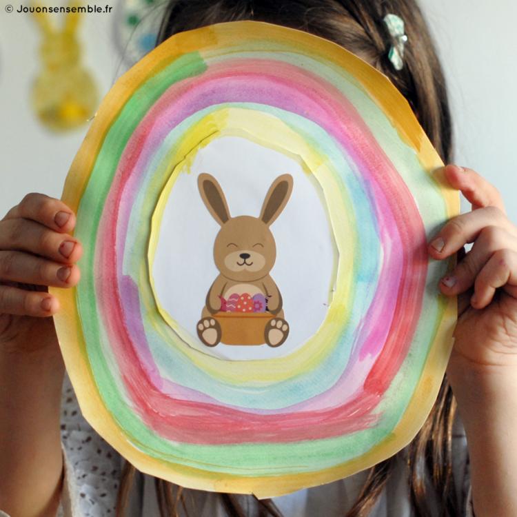 Stickers lapin de Pâques | Les gommettes françaises | Made in France
